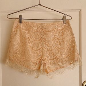Lush Eyelash Lace Shorts